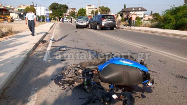 Λαμία: Δύο νέοι άνθρωποι τραυματίστηκαν σοβαρά σε τροχαίο