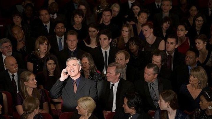 Έξαλλοι ηθοποιοί με θεατές θεάτρου
