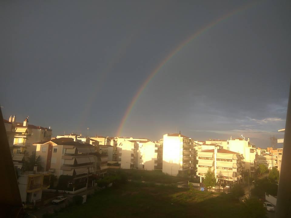 Λάρισα: Ουράνιο τόξο μετά την βροχή (φωτ.)