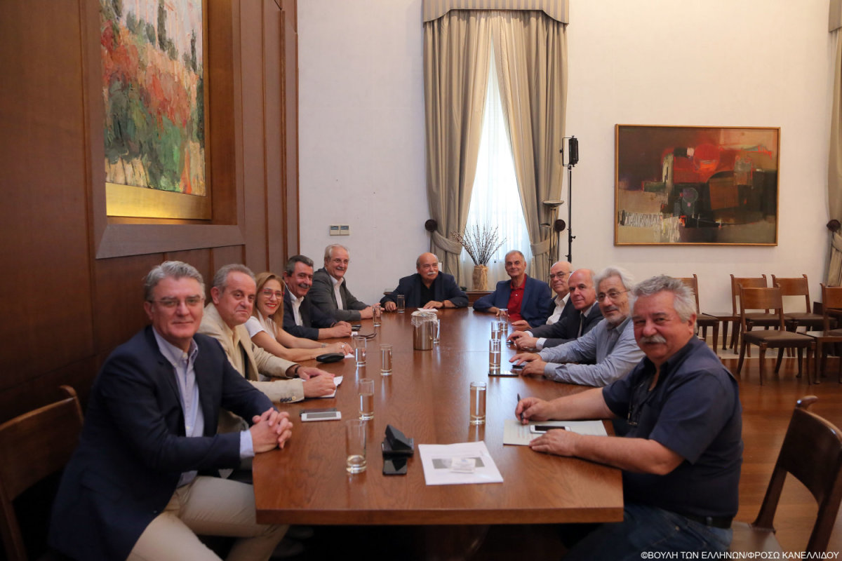 Στη συνάντηση με Ν. Βούτση ο Ν. Ντίτορας