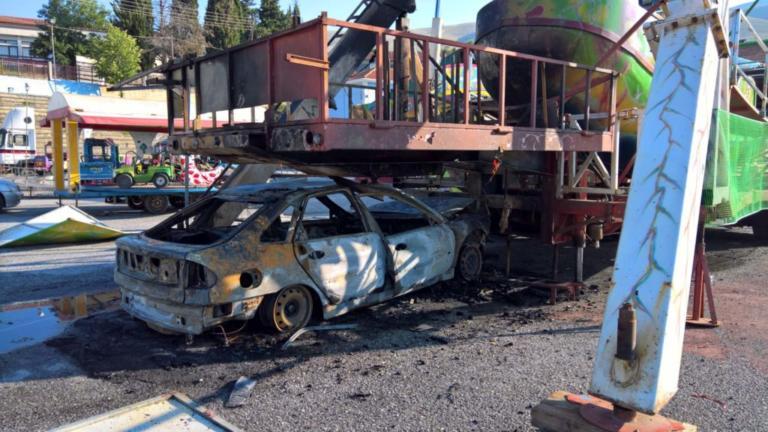 Κοζάνη: Τρόμος σε λούνα παρκ με φλεγόμενο αυτοκίνητο
