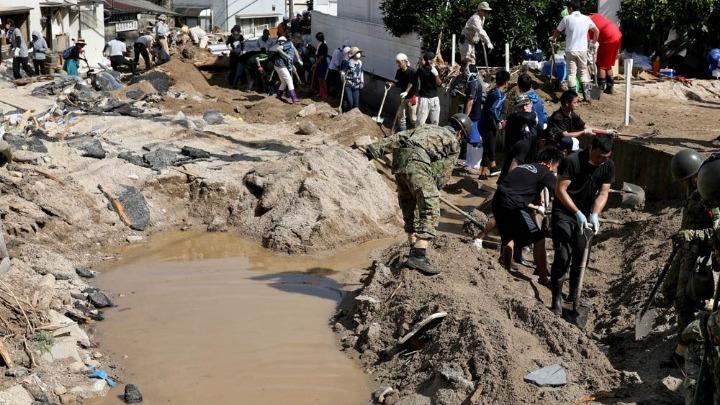 Στους 199 οι νεκροί από τις πλημμύρες και τις κατολισθίσεις στην Ιαπωνία