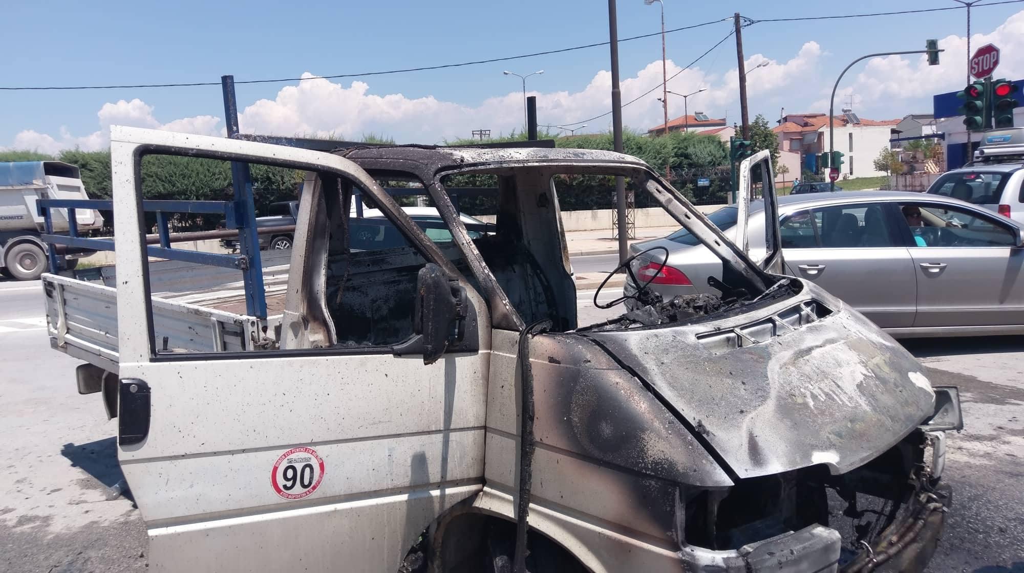 φωτια φορτηγακι λαρισα (3)