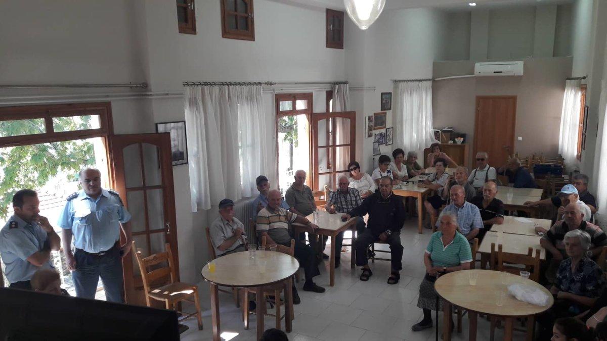 Ενημέρωση στο ΚΑΠΗ Ραψάνης για απάτες σε βάρος ηλικιωμένων