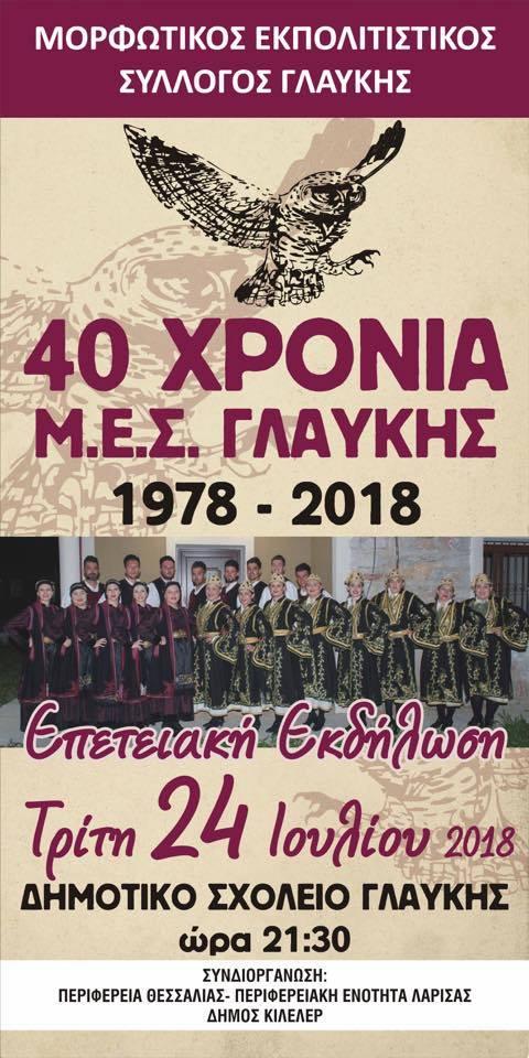 40 χρόνια Μ.Ε.Σ. Γλαύκης
