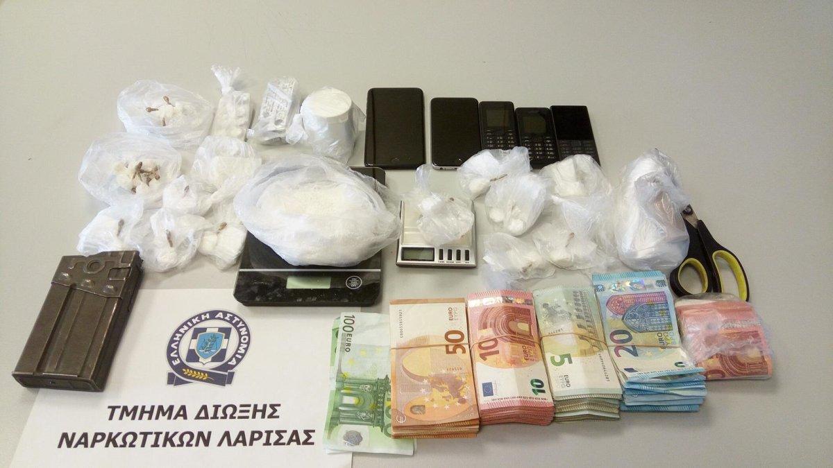 Συλλήψεις στη Λάρισα για κοκαΐνη