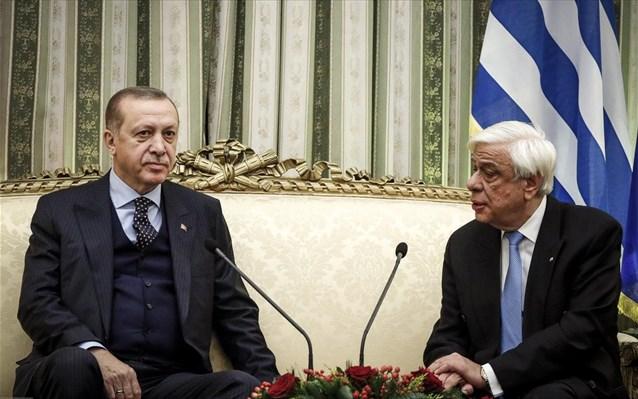 Ερντογάν σε Παυλόπουλο: Έτοιμοι να παρέχουμε κάθε είδους βοήθεια στην Ελλάδα