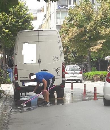 Πλυντήριο αυτοκινήτων η Παπαναστασίου (φωτ.)
