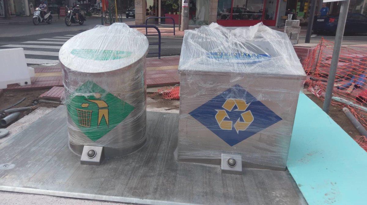 Νέοι υπόγειοι κάδοι απορριμμάτων στο κέντρο της Λάρισας