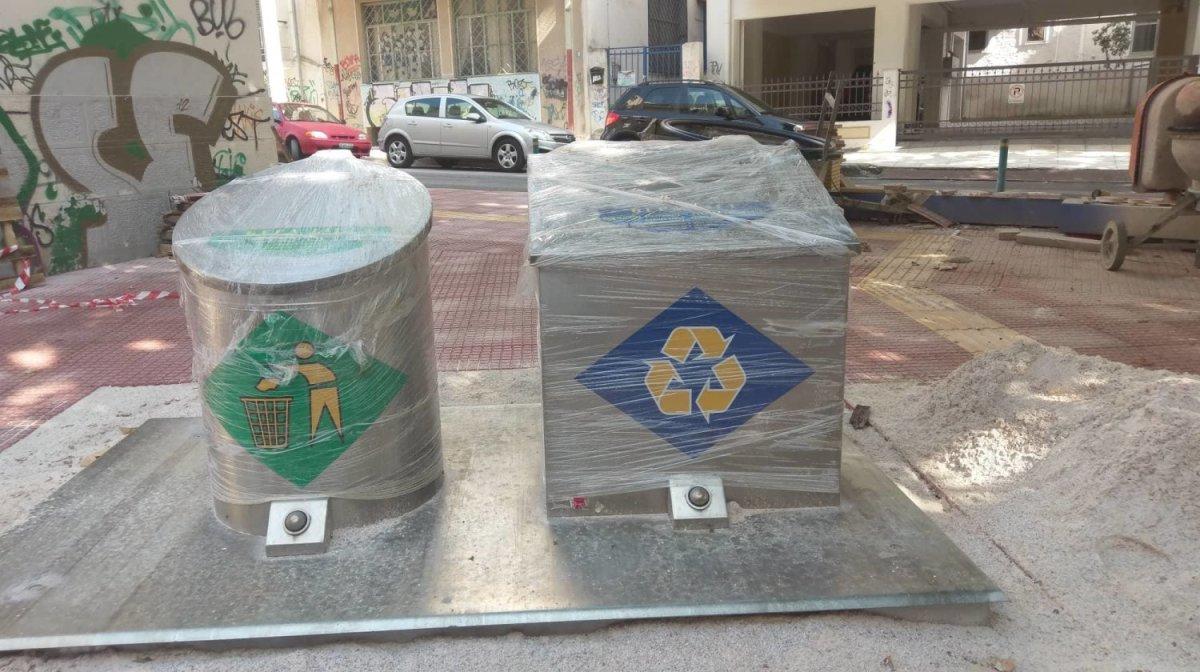 Έμποροι στη Λάρισα αντέδρασαν στην τοποθέτηση υπόγειων κάδων