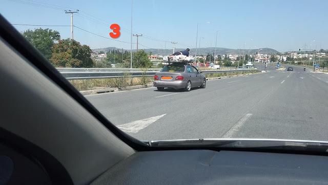 Απίστευτη εικόνα: Βολιώτης στον «ουρανό» αυτοκινήτου στον Περιφερειακό