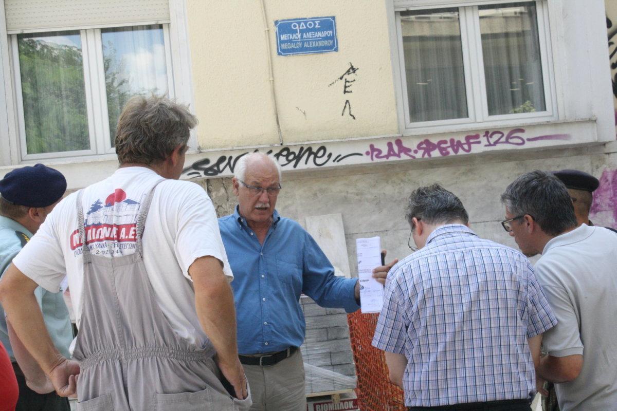 Περιοδεία στα έργα του κέντρου κάνει ο Καλογιάννης (φωτ.)