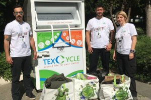 Κάδος ανακύκλωσης ρούχων – παπουτσιών – υφασμάτων και κατάστημα Leroy Merlin Λάρισας