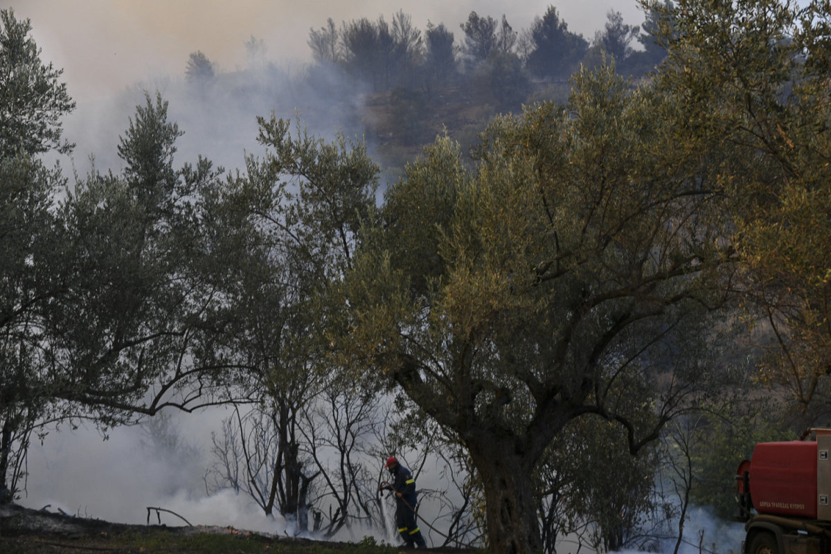 Δεν υπάρχουν πλέον ενεργά μέτωπα φωτιάς στην Εύβοια