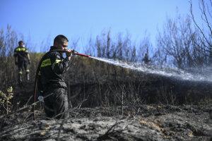 Υπό μερικό έλεγχο η πυρκαγιά στον Άγιο Στέφανο Αττικής