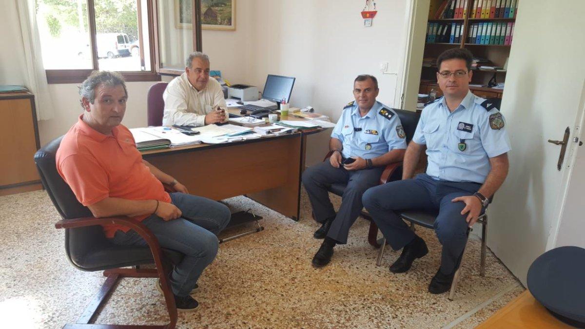 Στον Δήμαρχο Αργιθέας ο Αστυνομικός Διευθυντής Θεσσαλίας