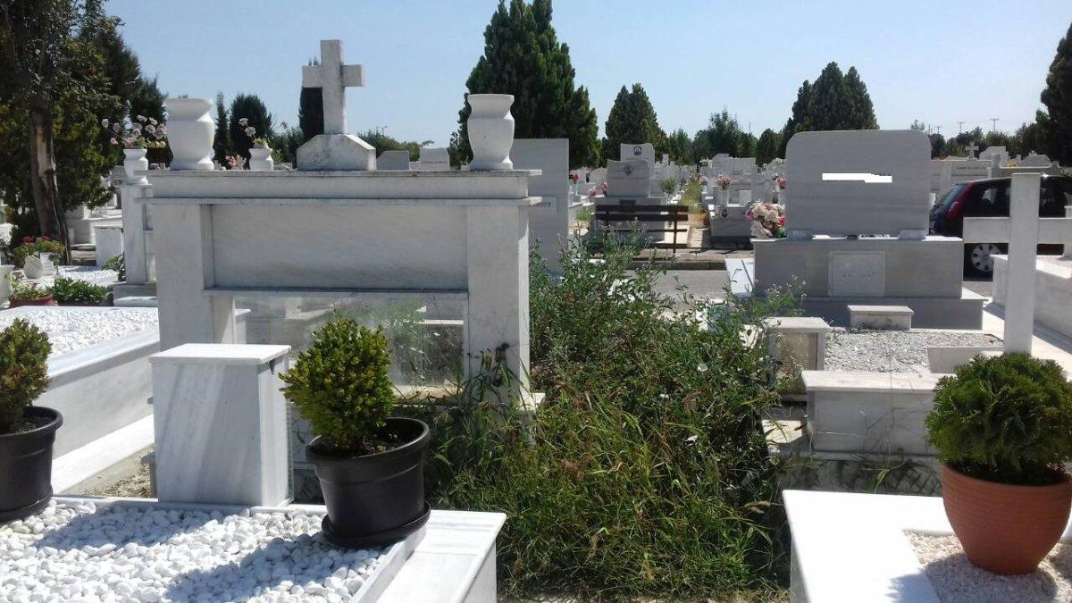 Θέριεψαν τα χόρτα στο Νέο Κοιμητήριο Λάρισας (φωτ.)