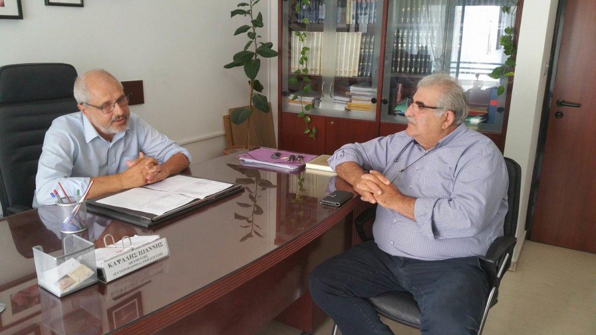 Ο Παπαδόπουλος στην Διεύθυνση Δευτεροβάθμιας Εκπαίδευσης