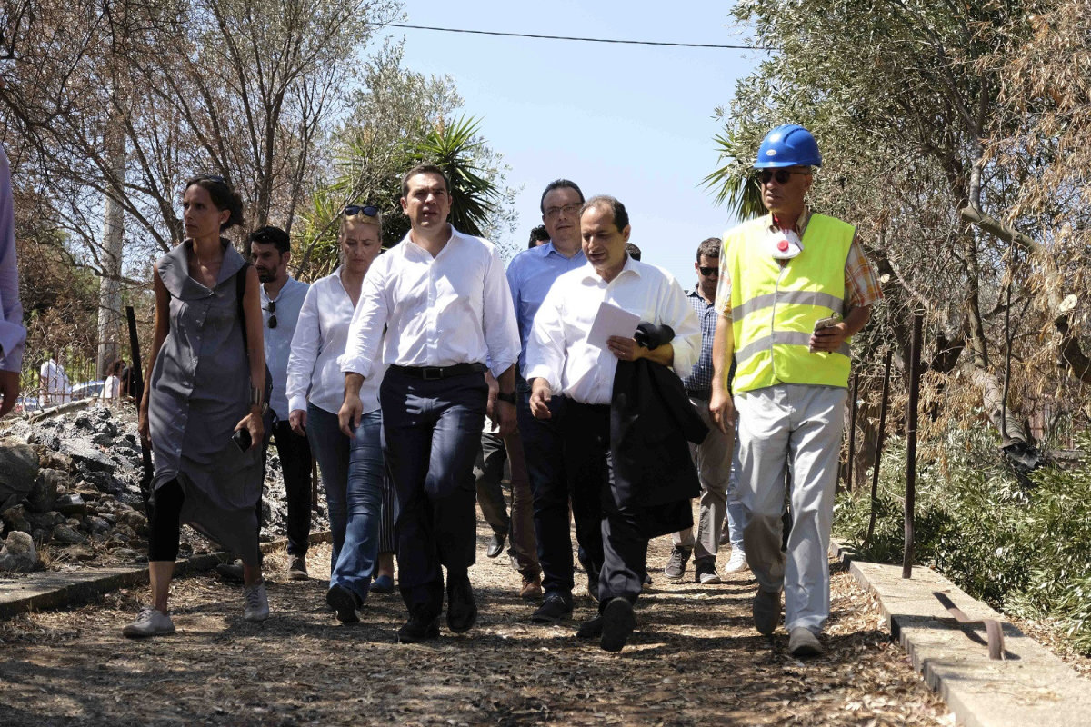 Επίσκεψη Τσίπρα στο Μάτι: «Στοίχημα η αναγέννηση του»
