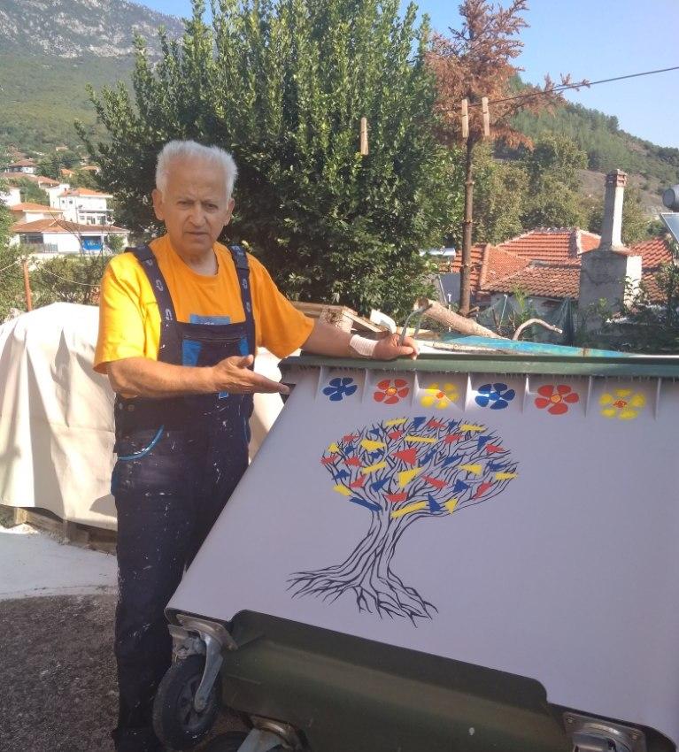 Οι ζωγραφιστοί κάδοι του Γοργογυρίου