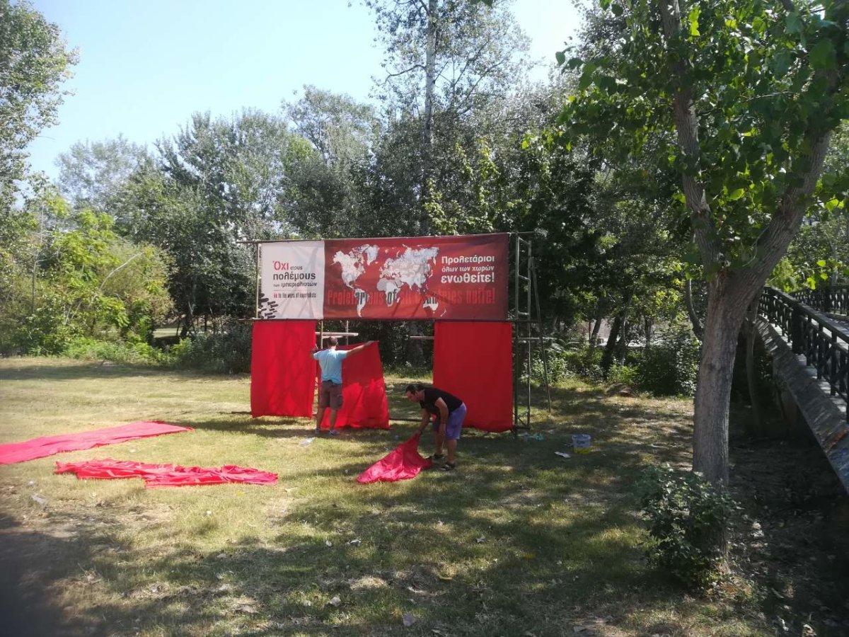 Διαμόρφωση του Πηνειού για το Φεστιβάλ ΚΝΕ
