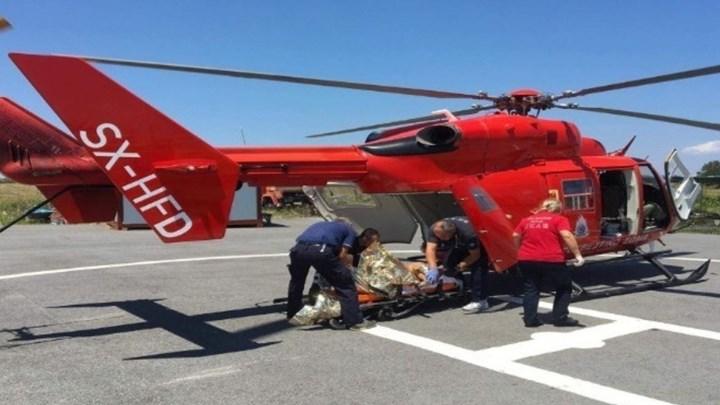 Αεροδιακομιδή 50χρονου που τραυματίστηκε σε τροχαίο