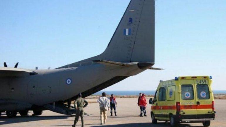 Ηράκλειο: Στο ΚΑΤ, με C-27, ο νεαρός που ακρωτηριάστηκε