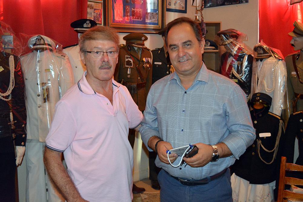 Ο αντιπεριφερειάρχης Καρδίτσας στο Αστυνομικό Μουσείο