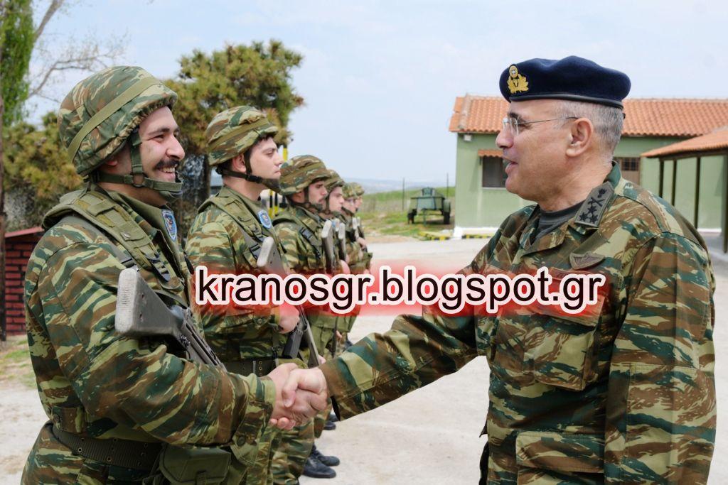 Σε στρατιωτικές μονάδες του Έβρου ο διοικητής 1ης Στρατιάς