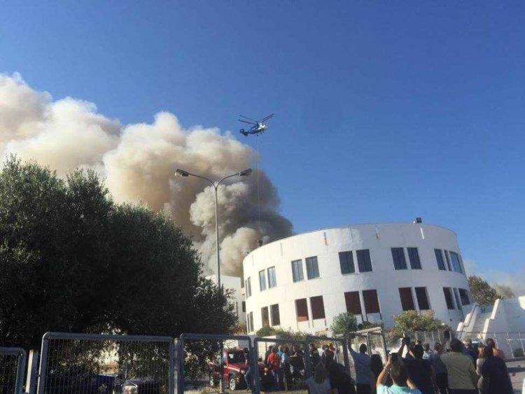 Έσβησε η φωτιά στο Πανεπιστήμιο Κρήτης (βίντεο)