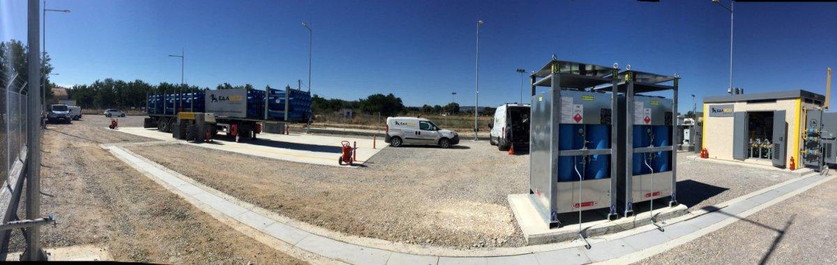Εγκατάσταση συμπιεστών και μεταφορά φυσικού αερίου στο Δίκτυο Διανομής της ΕΔΑ ΘΕΣΣ