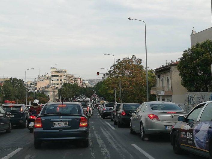 Κυκλοφοριακό κομφούζιο στη Θεσσαλονίκη από την 24ωρη απεργία του ΟΑΣΘ (φωτ.)