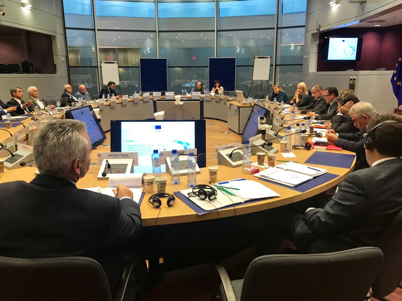 Στην έδρα της Κομισιόν όπου υπήρξε ενημέρωση σε αντιπροσωπεία βουλευτών με πρωτοβουλία της Ευρωπαϊκής Επιτροπής.
