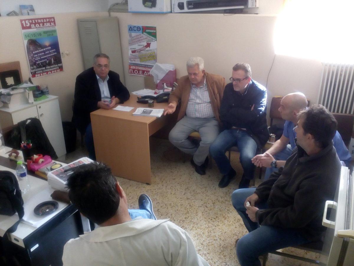 Περιοδεία κλιμακίου της ΤΕ Λάρισας του ΚΚΕ στο ΓΝΛ