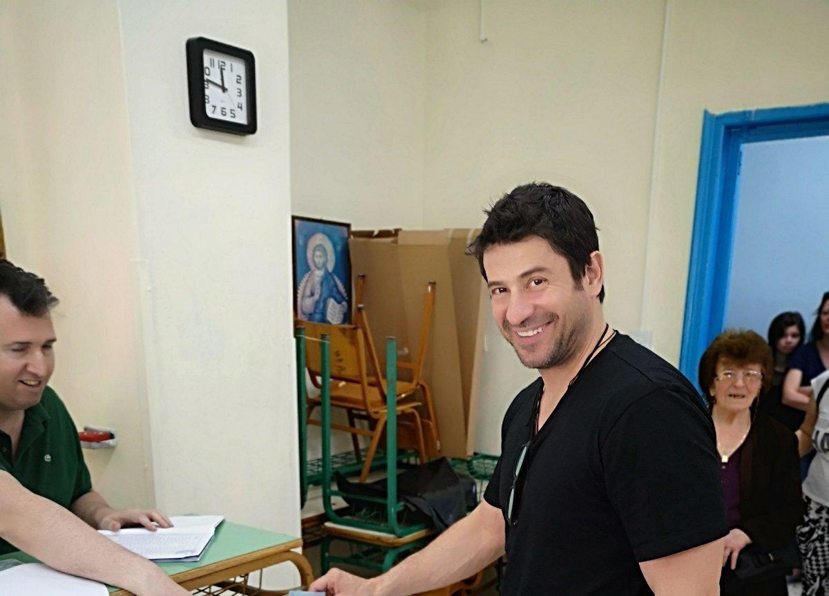 Στη Λάρισα ψήφισε ο Αλέξης Γεωργούλης