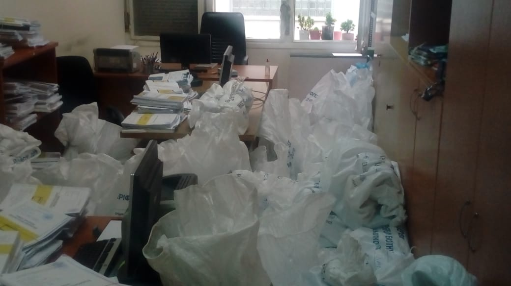 «Πλημμύρισε» το Πρωτοδικείο Λάρισας από εκλογικούς σάκους