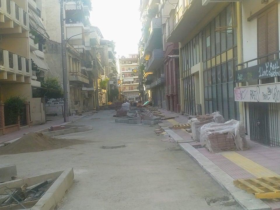Ολοκληρώνονται τα έργα στην οδό Ασκληπιού στη Λάρισα