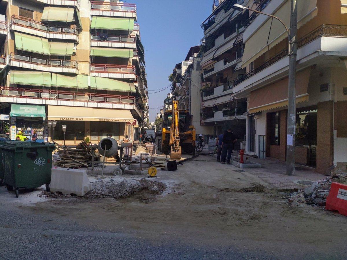 Έτοιμη η οδός Ασκληπιού στη Λάρισα