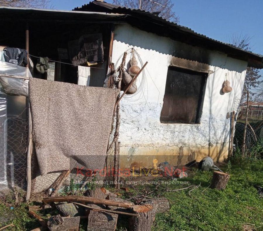 Φωτιά σε παράπηγμα που ζούσε ηλικιωμένη στο Μακρυχώρι Καρδίτσας