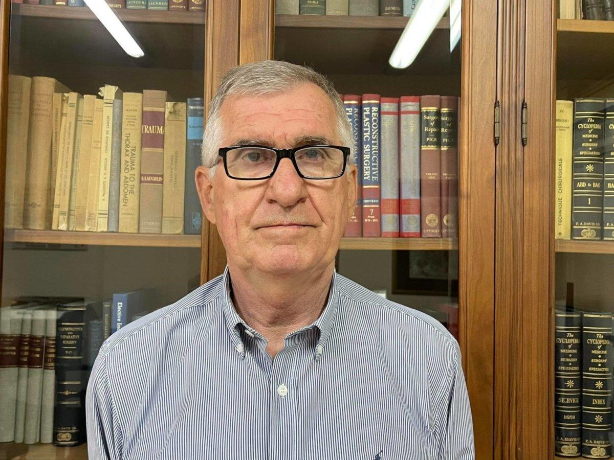 Ο πρόεδρος του Ιατρικού Συλλόγου Λάρισας κ. Ντίνος Γιαννακόπουλος